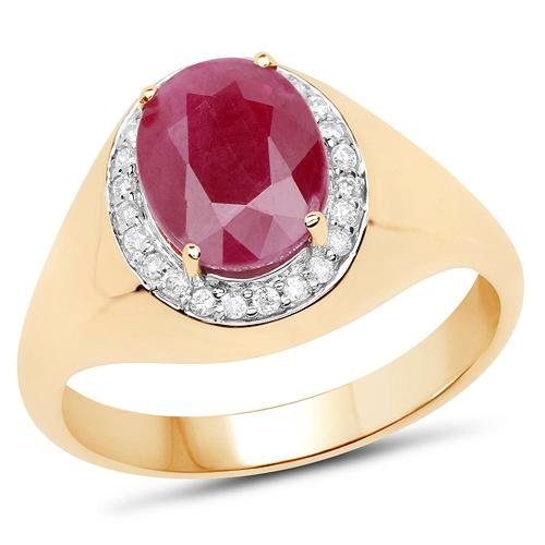 2.32 CTW Ruby & Diamond Ring 14K Yellow Gold -