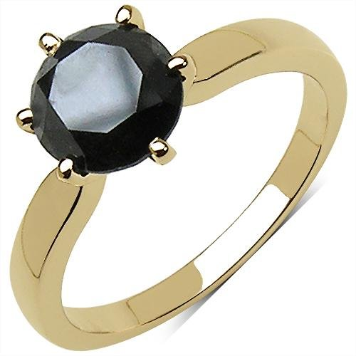 2.80 CTW Black Diamond Ring 10K Yellow Gold - REF-91M2A