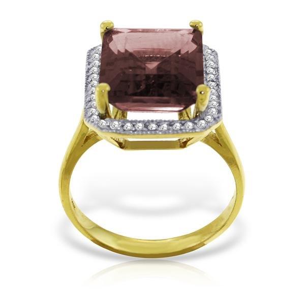 Genuine 7.7 ctw Garnet & Diamond Ring Jewelry 14KT