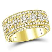265 CTW Diamond Mens Ring 14K Yellow Gold  REF248F6N