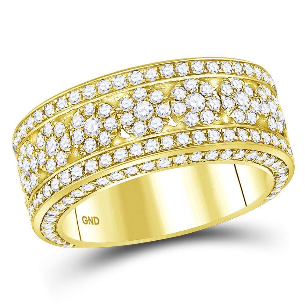 2.65 CTW Diamond Mens Ring 14K Yellow Gold - REF-248F6N