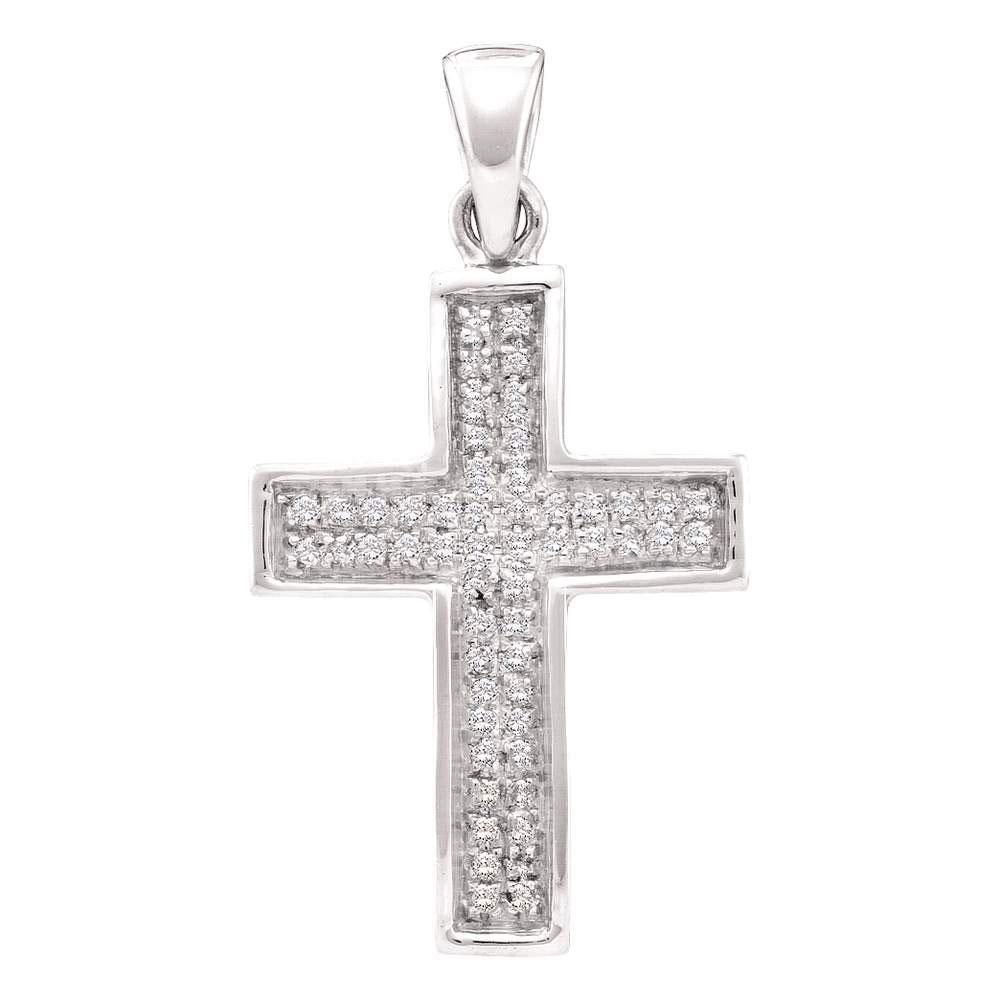 0.16 CTW Diamond Cross Pendant 10K Yellow Gold -