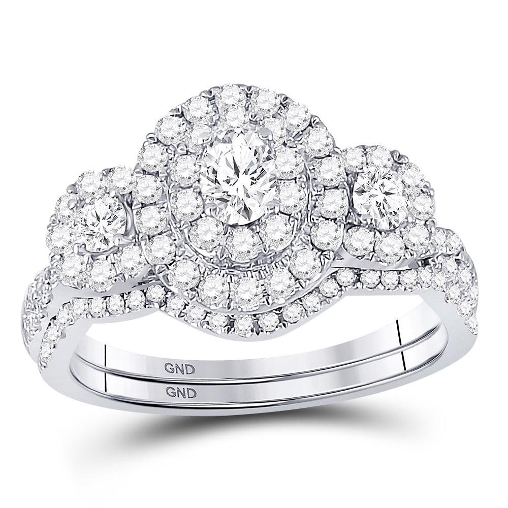 1.01 CTW Diamond Ring 14K White Gold - REF-128W2H