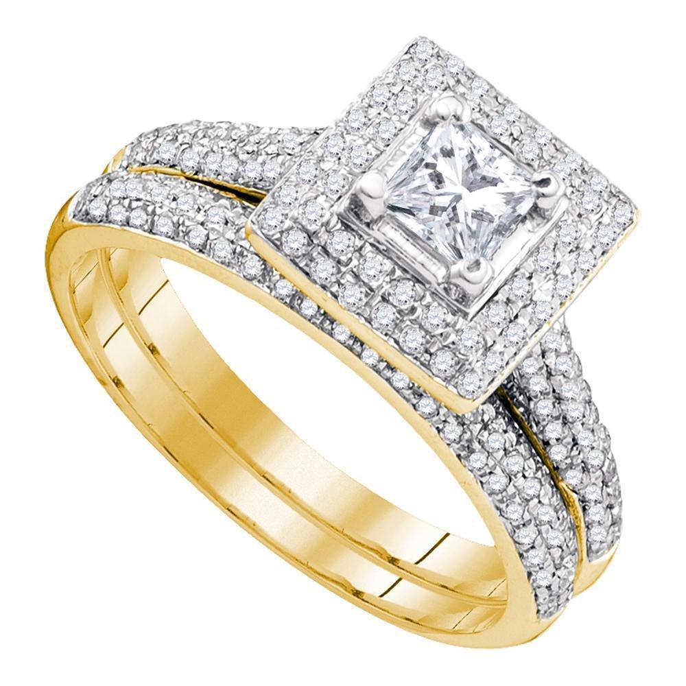 1 CTW Diamond Ring 14K Yellow Gold - REF-125H3M