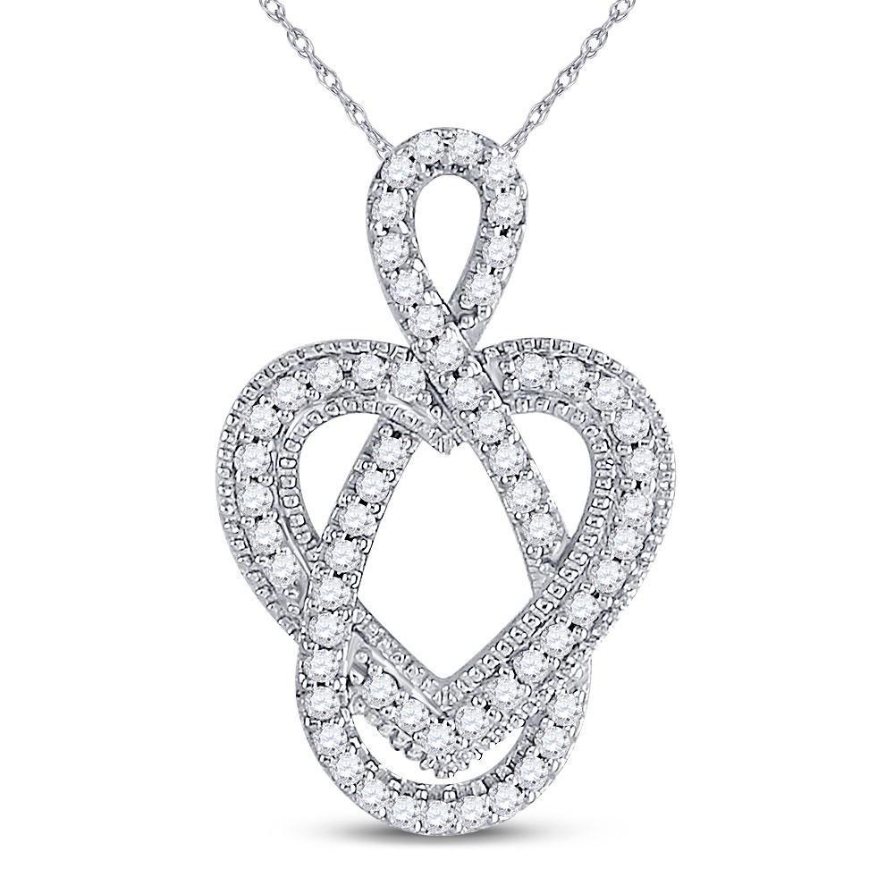 Diamond Captured Infinity Heart Pendant 1/6 Cttw 10kt