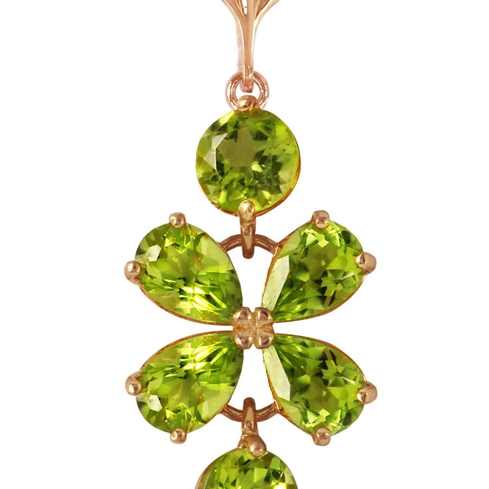 Genuine 3.15 ctw Peridot Necklace 14KT Rose Gold -
