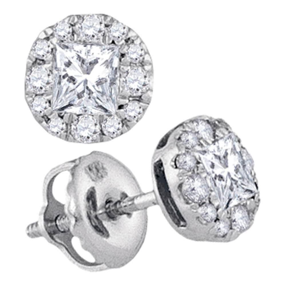 Diamond Framed Screwback Stud Earrings 1/2 Cttw 14kt