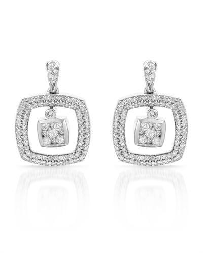 1 CTW Diamond Earrings 14K White Gold REF98Y2X