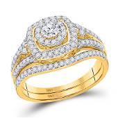 Diamond Bridal Wedding Engagement Ring Band Set 34