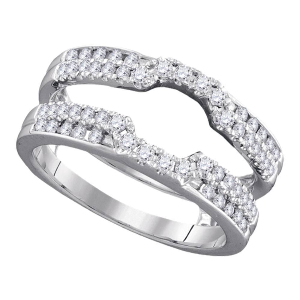 Diamond Wrap Ring Guard Enhancer Wedding Band 12 Cttw