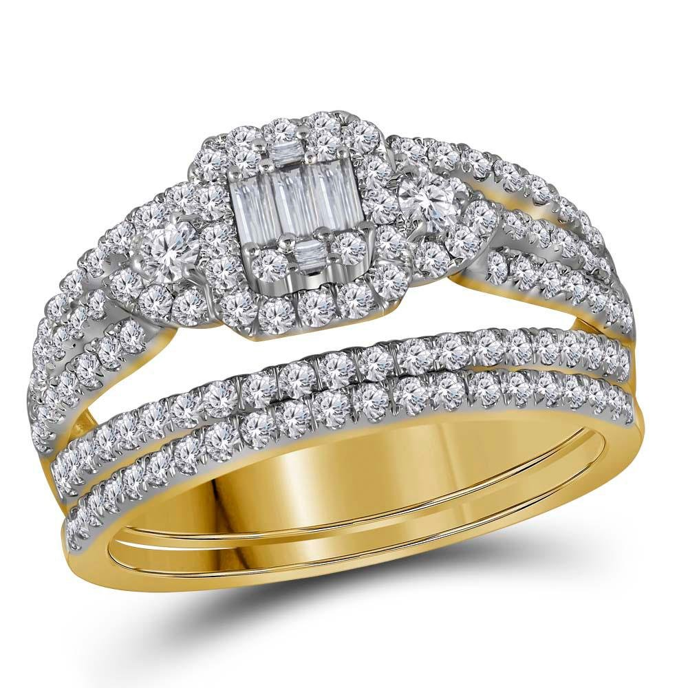 Baguette Diamond Bridal Wedding Engagement Ring Band