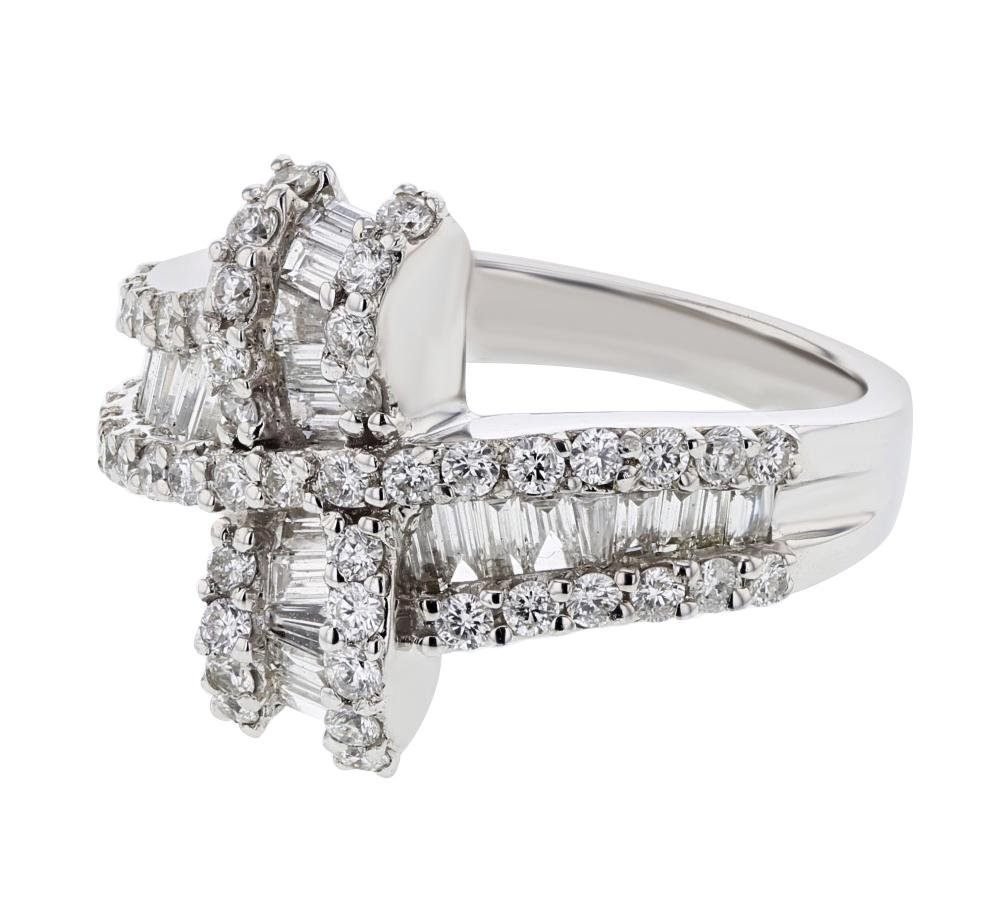 1.29 CTW Diamond Ring 18K White Gold - REF-134H5M