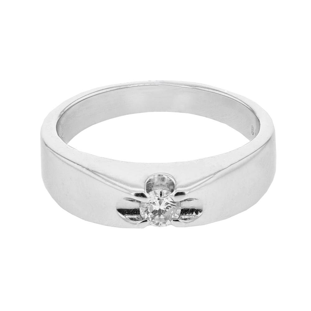 0.14 CTW Diamond Ring 14K White Gold - REF-37W6H