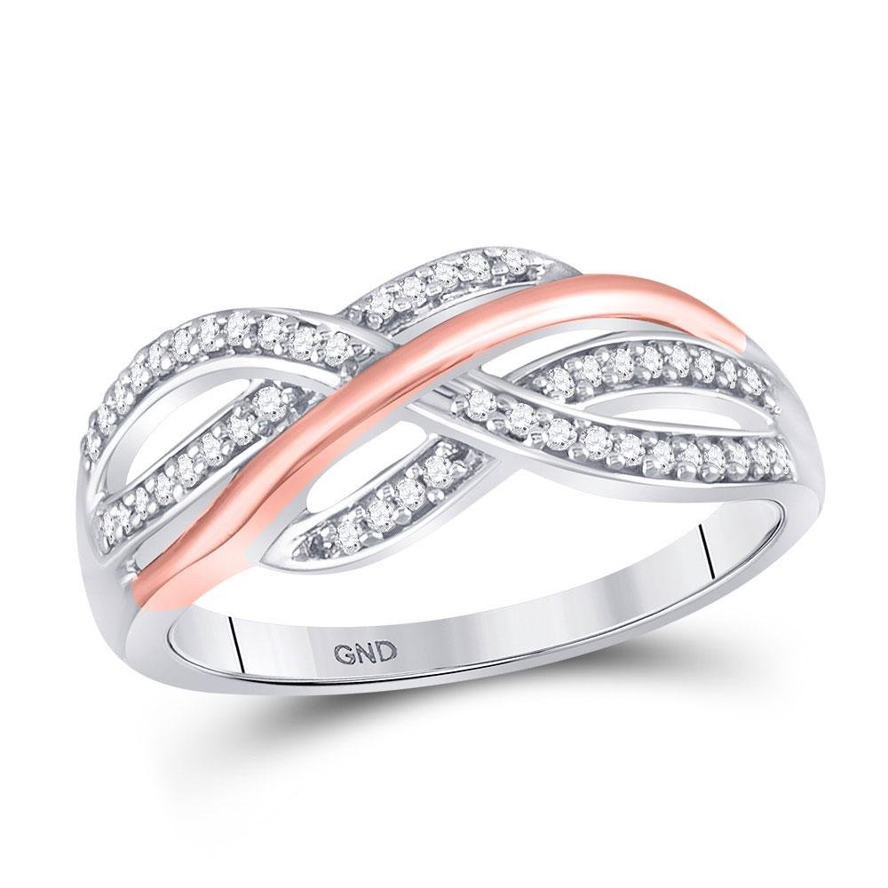 Diamond Crossover Strand Band Ring 1/5 Cttw 10kt