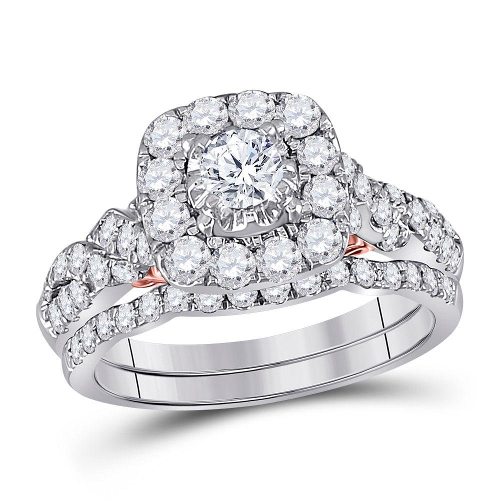 Diamond Bridal Wedding Engagement Ring Band Set 1-1/2