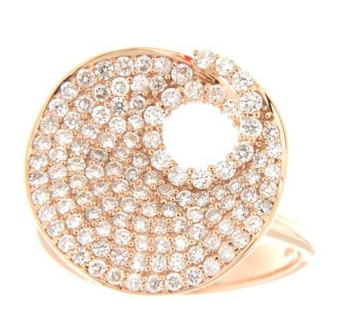 1.24 CTW Diamond Ring 18K Rose Gold