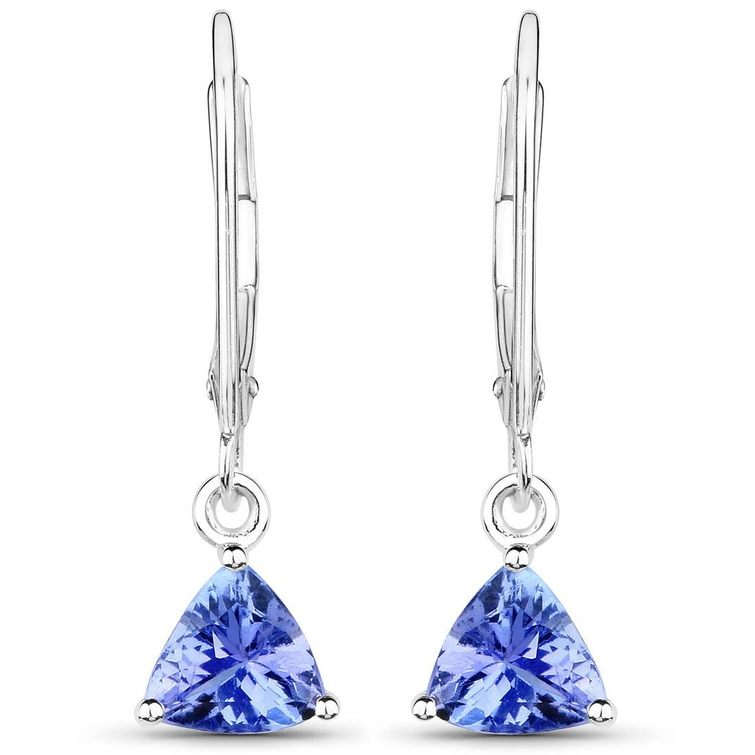 1.18 ctw Tanzanite Earrings 14K White Gold