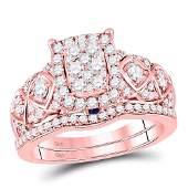 Diamond Vintage-inspired Bridal Wedding Engagement Ring