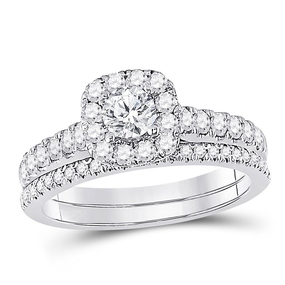 Diamond Bridal Wedding Engagement Ring Band Set 1.00