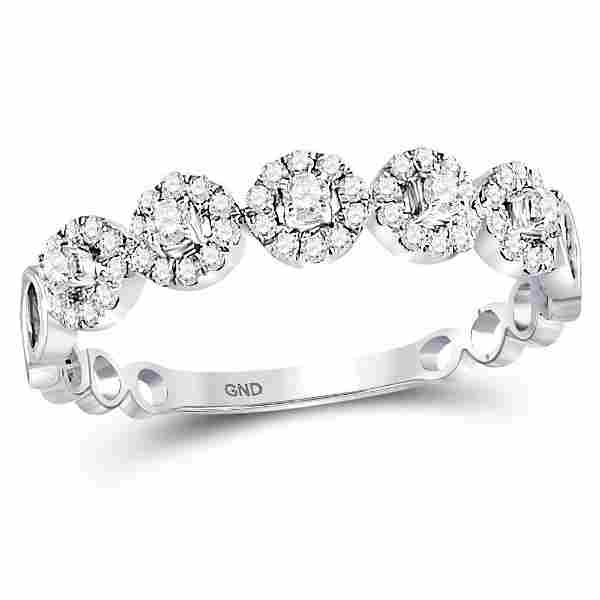 13 CTW Round Diamond Halo Solitaire Stackable Ring