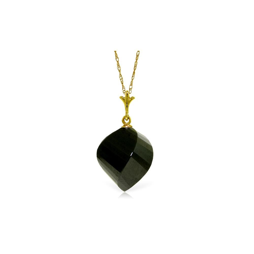 Genuine 155 ctw Black Spinel Necklace 14KT Yellow Gold