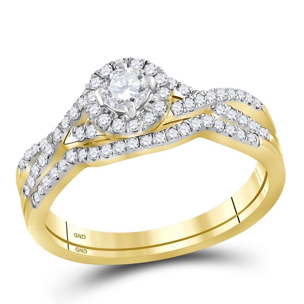 1/2 CTW Round Diamond Twist Bridal Wedding Engagement