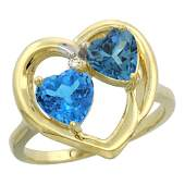 261 CTW Diamond Swiss Blue Topaz  London Blue Topaz