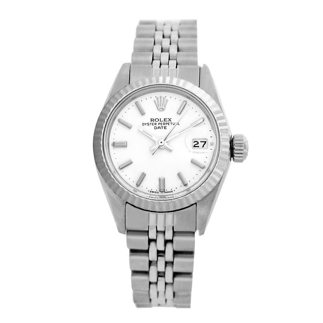 Rolex Pre-owned 26mm Womens Original Rolex White Dial