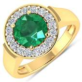 Natural 238 CTW Zambian Emerald  Diamond Ring 14K