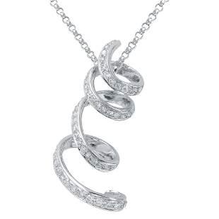 Natural 0.75 CTW Diamond & Pendant 14K White Gold -
