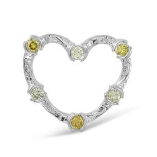 Natural 0.55 CTW Diamond & Pendant 14K White Gold -