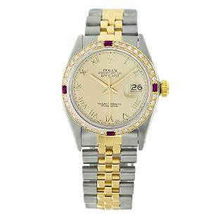 Rolex Pre-owned 36mm Mens Champagne Two Tone