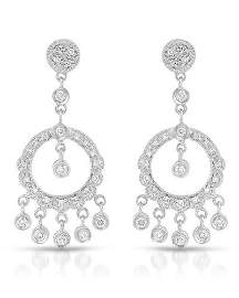 Natural 0.60 CTW Diamond Earrings 18K White Gold -
