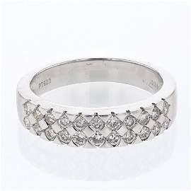Natural 0.61 CTW Diamond Band Ring Platinum -