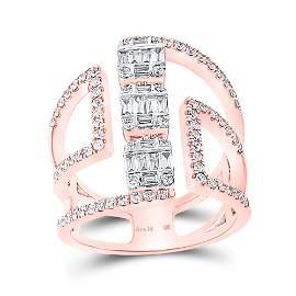 Baguette Diamond Negative Space Band Ring 7/8 Cttw 14KT