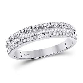 Round Diamond Anniversary Band Ring 1/2 Cttw 14KT White