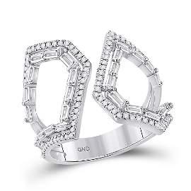 Round Diamond Modern Fashion Ring 3/4 Cttw 14KT White