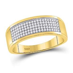 Round Diamond Micropave Wedding Anniversary Band Ring