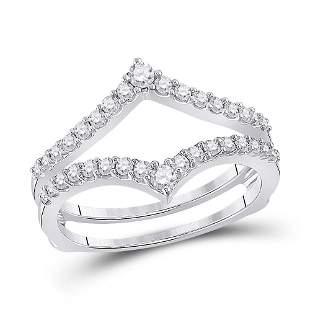 Round Diamond Ring Guard Wrap Enhancer Wedding Band 1/2