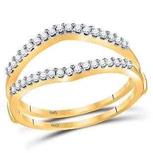 Round Diamond Ring Guard Wrap Enhancer Wedding Band 1/4