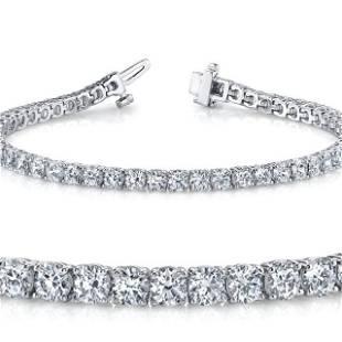 Natural 4ct VS2-SI1 Diamond Tennis Bracelet 14K White