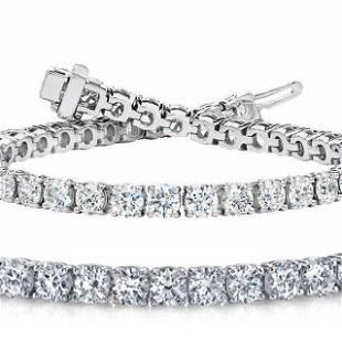 Natural 6ct VS2-SI1 Diamond Tennis Bracelet 14K White