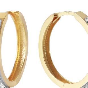 Genuine 0.28 ctw Diamond Anniversary Earrings 14KT