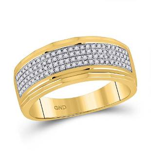 Round Diamond Band Ring 1/3 Cttw 10KT Yellow Gold