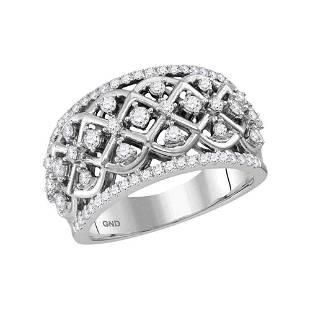 Round Diamond Anniversary Ring 3/4 Cttw 10KT White Gold