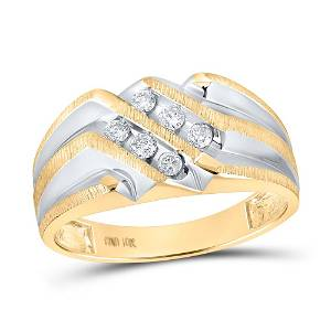 Round Diamond Band Ring 1/4 Cttw 10KT Yellow Gold