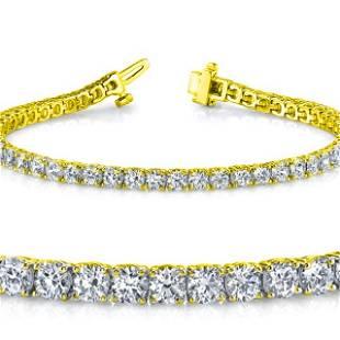Natural 5.01ct VS2-SI1 Diamond Tennis Bracelet 18K
