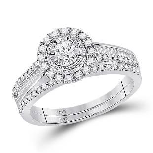 Diamond Bridal Wedding Ring Band Set 5/8 Cttw 10KT