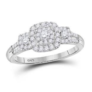 Diamond Cluster Bridal Wedding Engagement Ring 1/2 Cttw