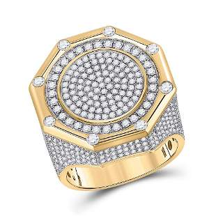 Round Diamond Octagon Cluster Ring 2-3/4 Cttw 14KT